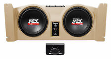 """Dual 10"""" Active MTX Subwoofers+ Sealed Sub Enclosure For 97-06 Jeep Wrangler TJ"""
