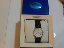 Lovely 18ct gold men's TISSOT watch with original box hallmarked
