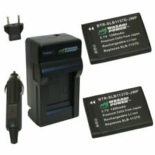 Wasabi Power Battery (2-Pack) and Charger for Samsung SLB-1137D