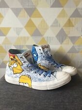 The Simpsons Converse All Star High Top Chuck Taylor Size 8 Rare Bart Homer