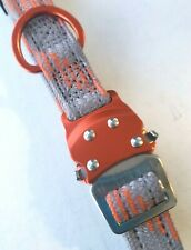 NEW Dog Pet Collar Carabiner Quick Release Gray Orange Lake & Trail 14-20 Medium