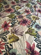 Style Co Twin Duvet Floral Buterflys Tropical With Standard Sham Set EUC