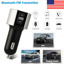 Wireless Bluetooth Car Kit Fm Transmitter Mp3 Player 2Port Usb Charger Handsfree