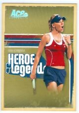 "ANNA KOURNIKOVA ""SILVER PARALLEL BASE CARD #092/100"" ACE HEROES & LEGENDS 2006"