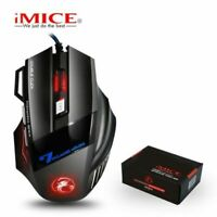 LED Light Backlit USB Wired Optical Gaming Mouse For PC Laptop Mice