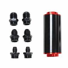 100 Micron Stainless Steel AN6/AN8/AN10 Inline Fuel Filter HIGH FLOW