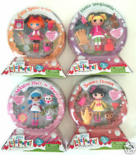 MINI LALALOOPSY SNOW GLOBE SERIES 10 SET SNOWY HOLLY MITTENS BEA 4 DOLL LOT
