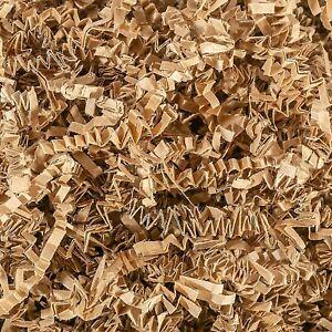 Crinkle Cut Paper Shreds- Filling Gift Baskets, Shipping Filler, Etc.- Brown 3oz