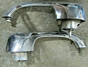 1966 67 CHEVY II NOVA SS CHROME OUTER DOOR HANDLES (PAIR): NICE OEM ORIGINALS!