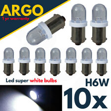 Bax9s Sidelight H6w Led White Xenon Bulbs 433 434 T4w Bayonet Side Light 10x Car