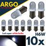 Bax9s H6w Led White Xenon Bulbs 433 434 T4w Bayonet Car Side Light Interior 12v