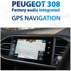 Peugeot 308 Factory Audio iGO Mapping GPS Navigation Retrofit pack