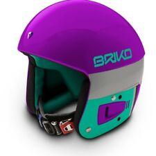 Briko Vulcano FIS Ski Race Helmet - Purple Teal, Large (58cm)