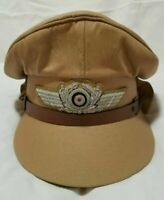 WW2 German Airforce Officer Pilot khaki Hat Cap Reproduction High Quality