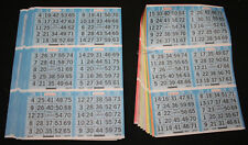 BINGO PAPER Cards sheets 6 on 9 up Blue T Bdr 25 packs 1,350 faces FREE SHIPPING