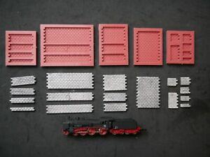 Silikonform   SPUR Z    5 Giessformen Mould für verschiedenes Mauerwerk