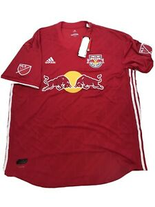 Adidas New York Red Bulls Jersey MLS Authentic On Field Mens Size XXL NWT $120