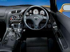 CARBON FIBER RHD RADIO SURROUND COVER INTERIOR FOR MAZDA RX-7 RX7 FD3S