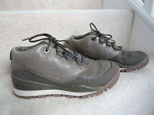 THE NORTH FACE GREEN KHAKI REAL LEATHER WATERPROOF HIKING WALKING BOOTS S 6 / 39