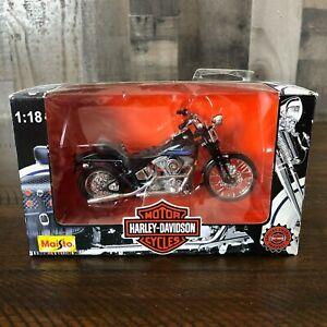 Maisto Harley-Davidson FXSTSB Bad Boy 1:18 Diecast Motorcycle 1997 *NEW IN BOX*