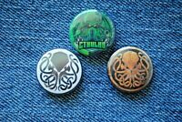 """CTHULHU Pin Pinback Button 1"""" Badge lot symbol call of Lovecraft"""