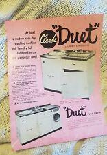 Clark Duet Laundry Consolette & Boiler-Tub - Vintage Flyer