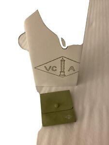 100% Auth Van Cleef & Arpels Ring Packaging Pouch, Xl Green Suede & Bags Only