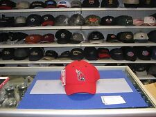 BALL STATE UNIVERSITY CARDINALS-RED CAP WITH TEAM LOGO ON FRONT SNAP ADJUST