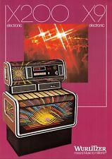 Wurlitzer X200 X9 Elektronische Jukebox Werbung Flieger 1970s 021219AME