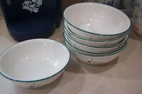 "Pfaltzgraff WINTERBERRY 6 soup cereal bowls 5 3/4 "" usa 3 UNUSED"