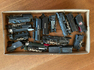 LOT of 8 HO untested Steam Locomotives In good cosmetic condition