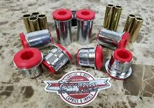 Chrome Front A Arm RED Hi-Performance Bushings 78-88 G-Body Regal,Cutlass,Malibu