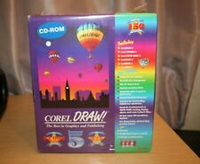 CorelDRAW! 5.0 The Best In Graphics Publishing CD-ROM Box SET NEW Vintage