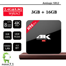 3GB/16GB tv box 4K Amlogic S912 H96 Pro Octa Core Android 7.1 2.4G/5GHz Wifi