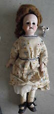 Antique Bisque Leather Marimura Brothers Girl Doll Look