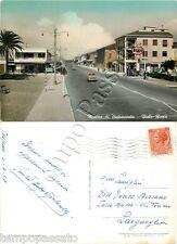 Cartolina di Marina di Pietrasanta, distributore benzina Esso - Lucca, 1957