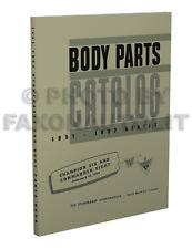 1951 1952 Studebaker Body Parts Book Catalog Champion Commander Land Cruiser
