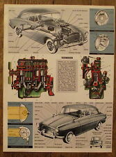 Planche Coupe moteur essence automobile,schemas  1968, clipping
