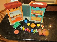 Vintage Fisher Price Little People Play Family Sesame Street Big Bird Lot 938 x