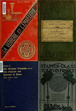79 OLD BOOKS ON STAINED GLASS PAINTED WINDOWS ANCIENT MEDIEVAL GLASS ART ON DVD