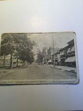 Old Postcard 1900's Honesdale Pennsylvania Union Station Main Street Historical