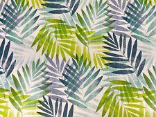 Tropical Leaf Green Blue Duck Egg PVC TABLECLOTH Vinyl Oilcloth Table Cover