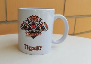 Personalised Mug - NRL Wests Tigers - Your name in the bottom
