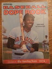 1974 SPORTING NEWS BASEBALL DOPE BOOK BOBBY BONDS SAN FRANCISCO GIANTS
