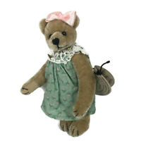 Cottage Collectibles Kelly miniature teddy bear Ganz girl in dress CC7306 tag L
