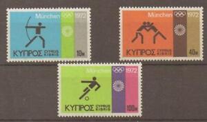 CYPRUS SG390/2 1972 OLYMPIC GAMES MNH