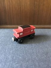 RARE Retired Thomas Wooden Railway 1992 Sodor Line Caboose Staples USED