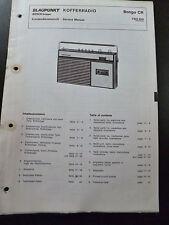 Original Service Manual  Blaupunkt  Kofferrradio Bongo CR