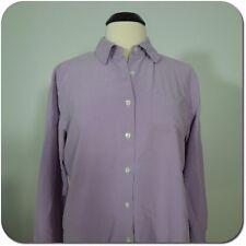 TALBOTS Women's Silk Lilac Button Down Shirt, Long Sleeves size 10