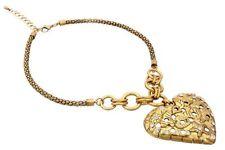 Grueso De Metal Conjunto de Collar de corazón con la CZ de facetas